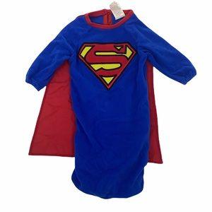 Newborn Superman Boys Costume w/ Cape 0-9 Months
